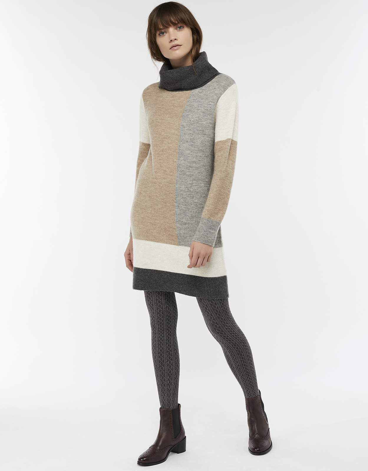 Monsoon Connie Colour Block Jumper Dress