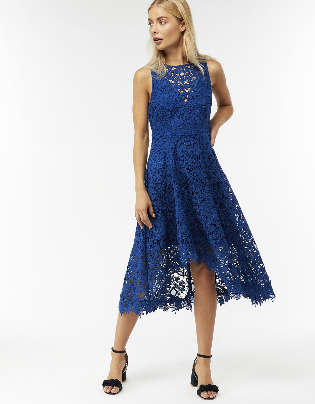 Monsoon Marie Lace Asymmetric Dress