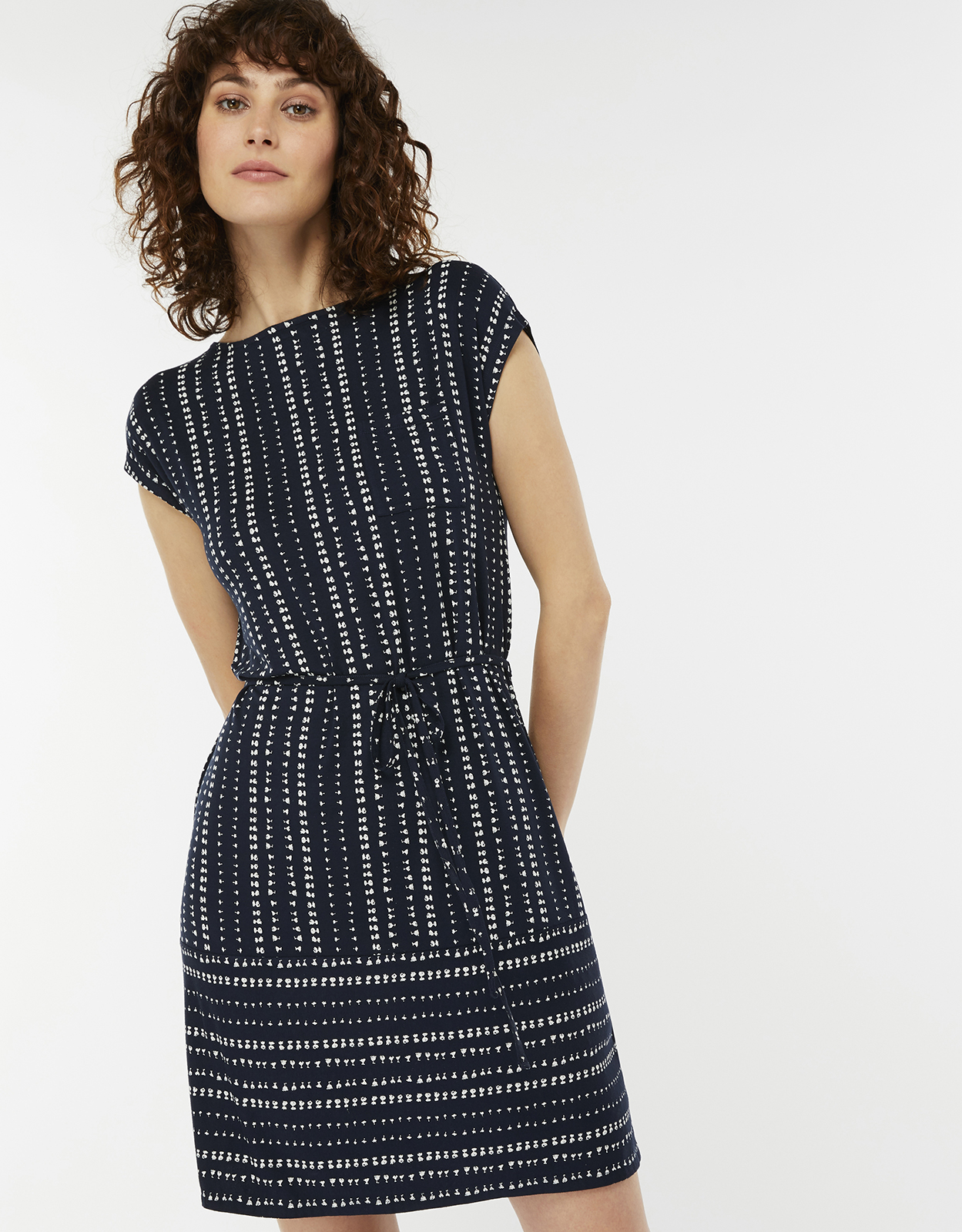Monsoon Selene Belted Jersey Dress