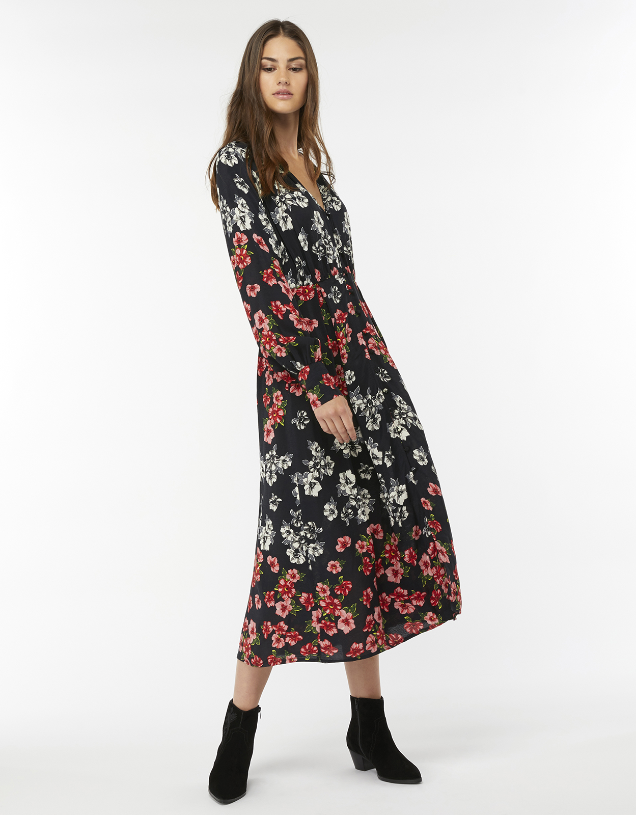 Monsoon Felix Print Midi Dress