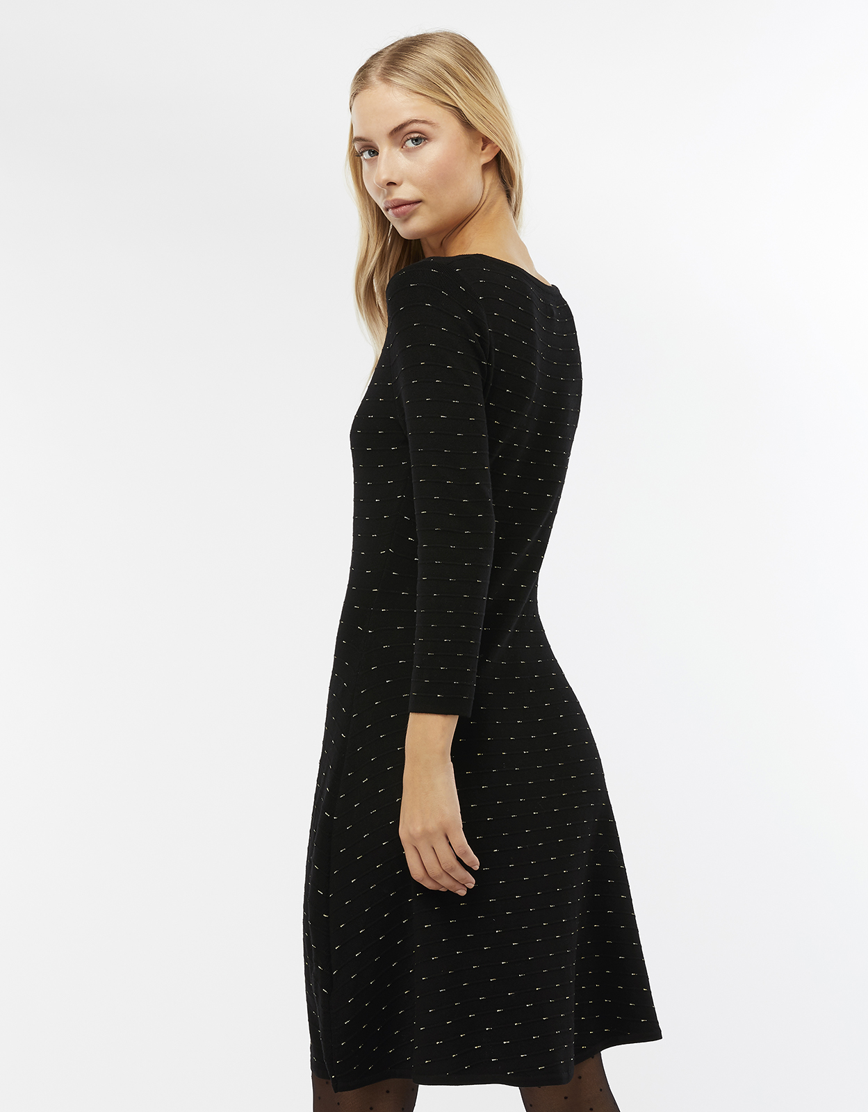 Monsoon Freja Sparkle Fit & Flare Knit Dress