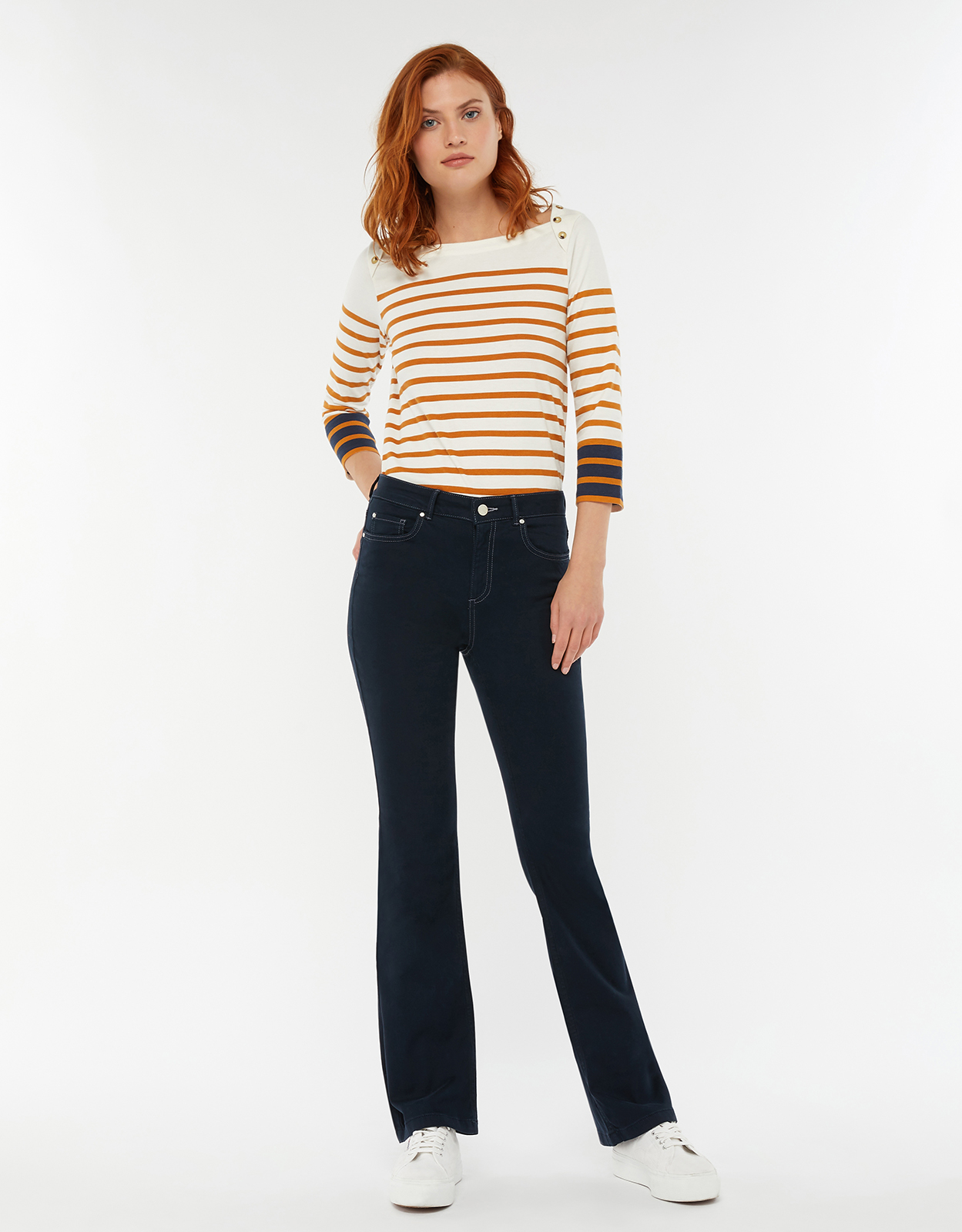Monsoon Joey Breton Stripe Cotton Top