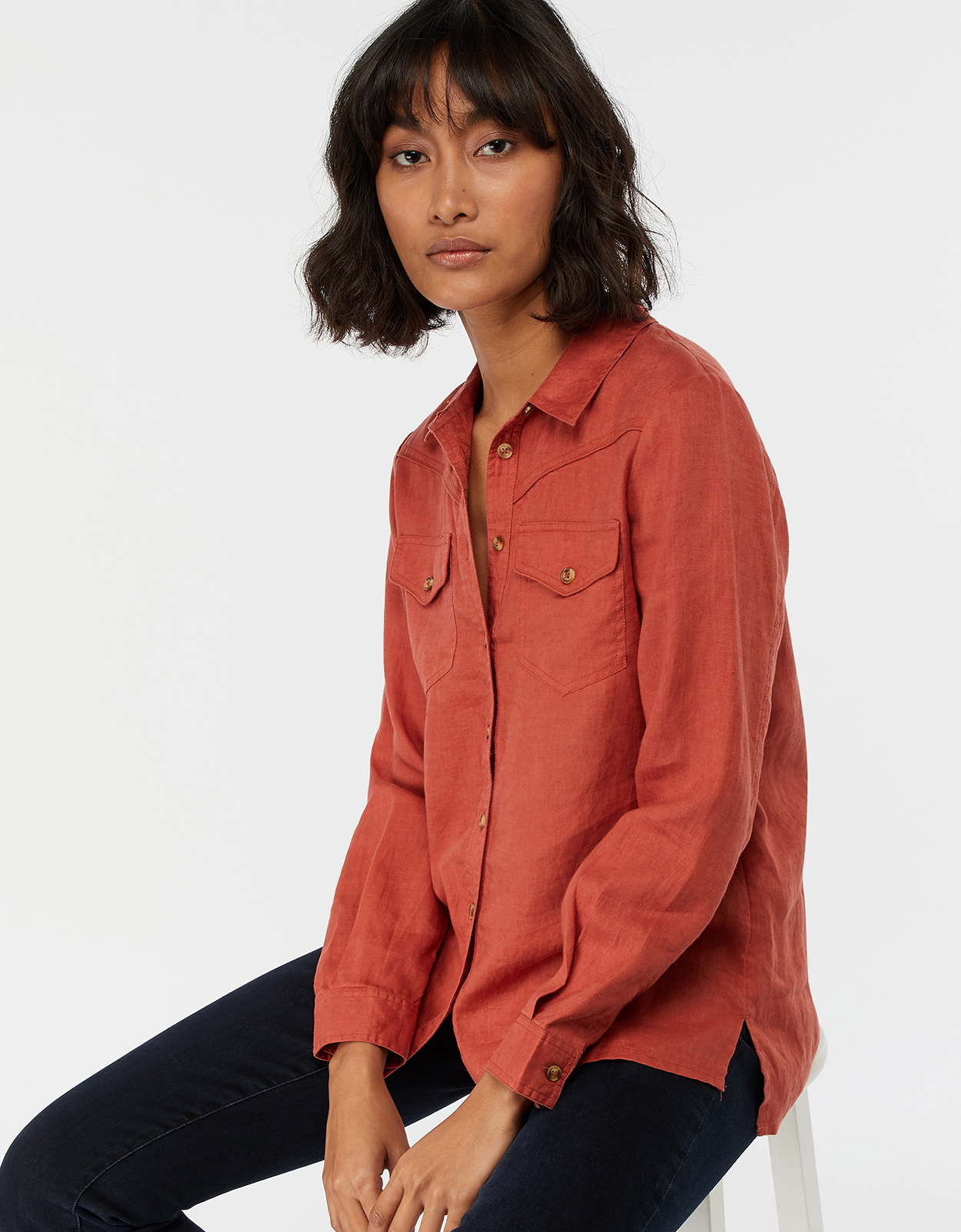 Monsoon Lucy Linen Shirt