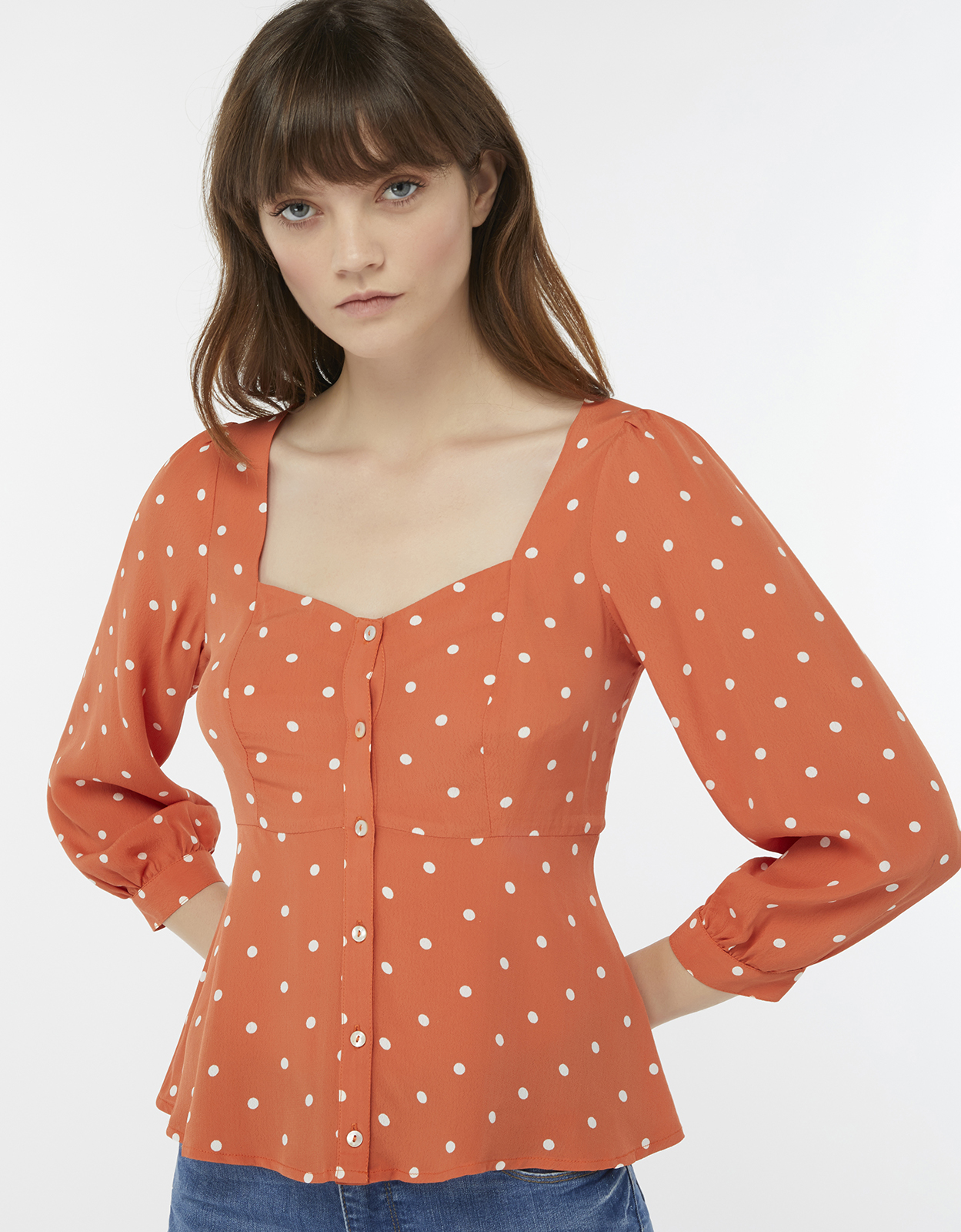 Monsoon Sophia Spot Blouse