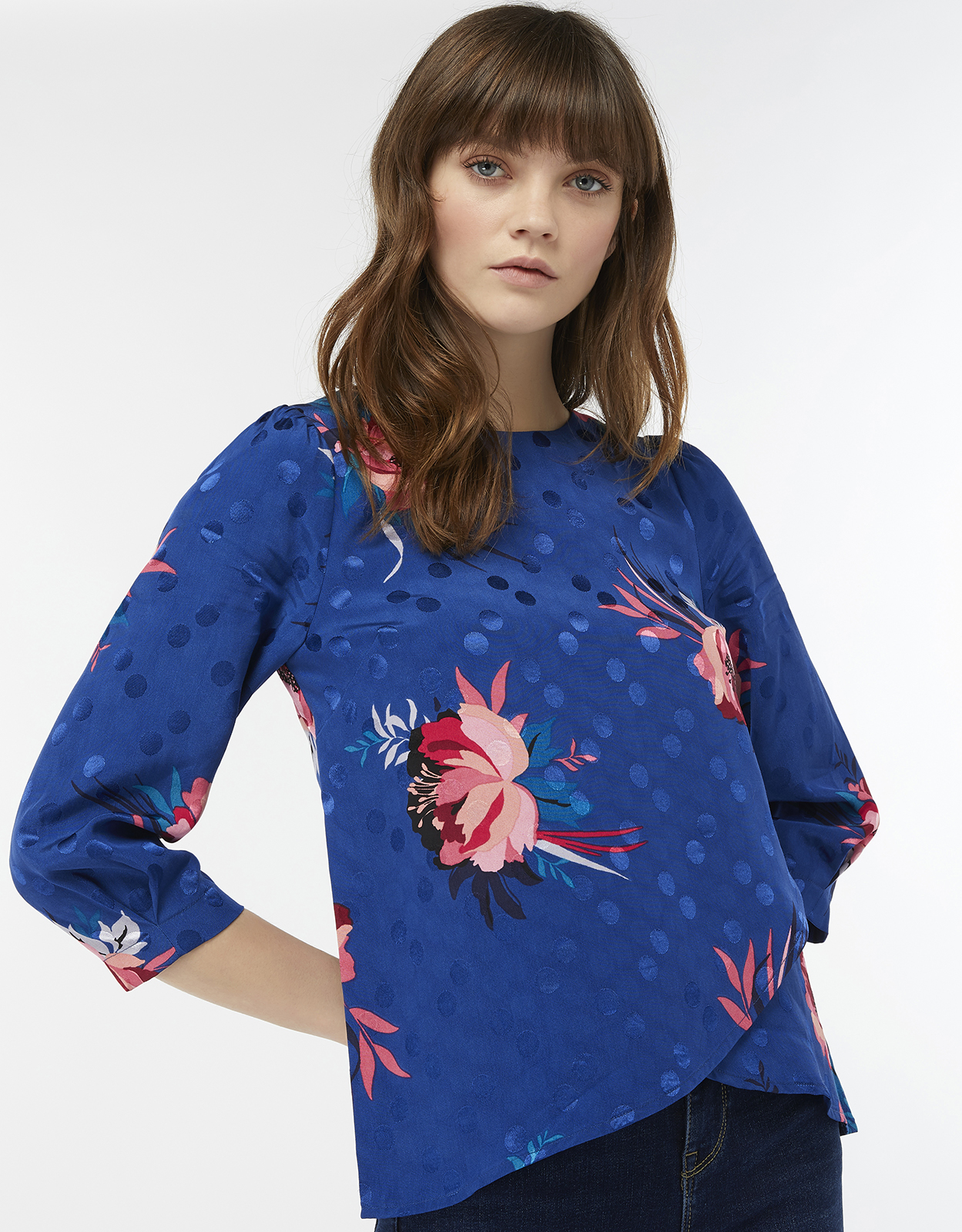 Monsoon Janice Floral Print Top