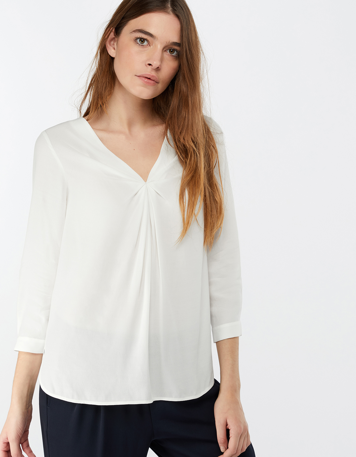 Monsoon Salvina Twist Front Blouse