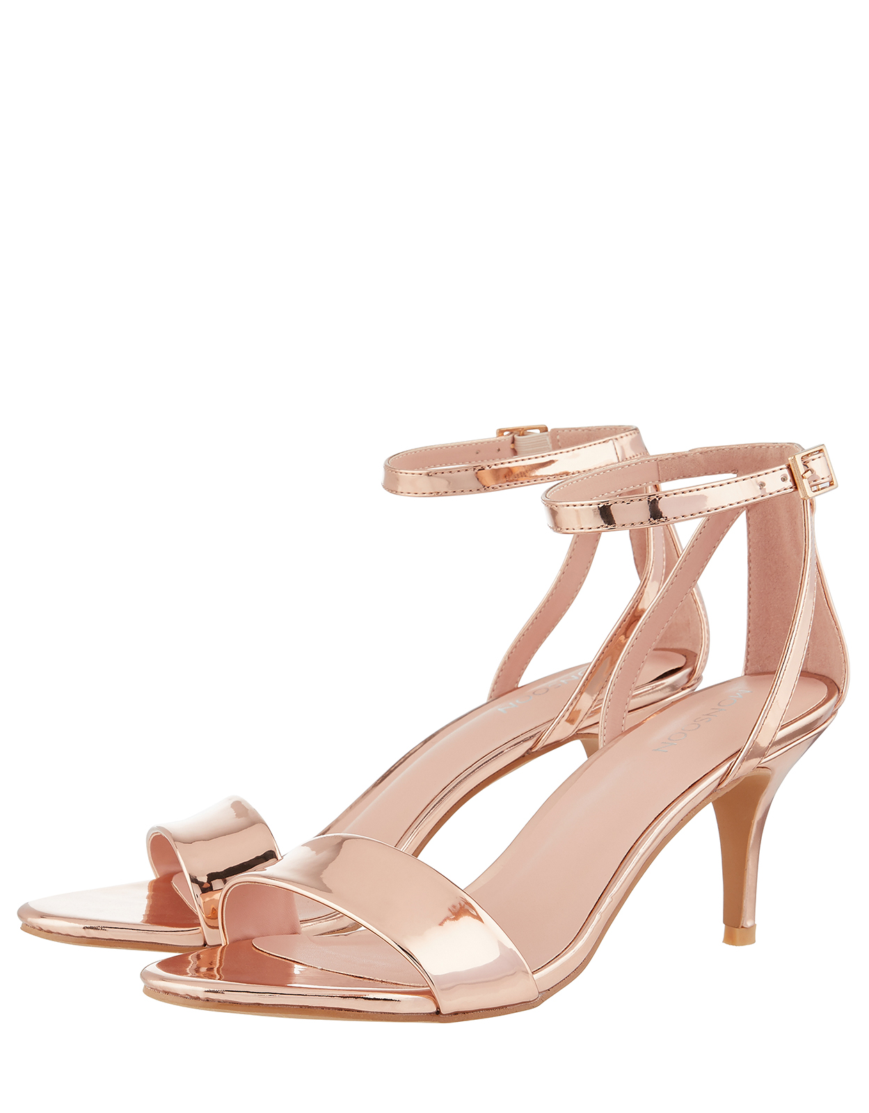 Monsoon Scarlett Strappy Mirror Heeled Sandals
