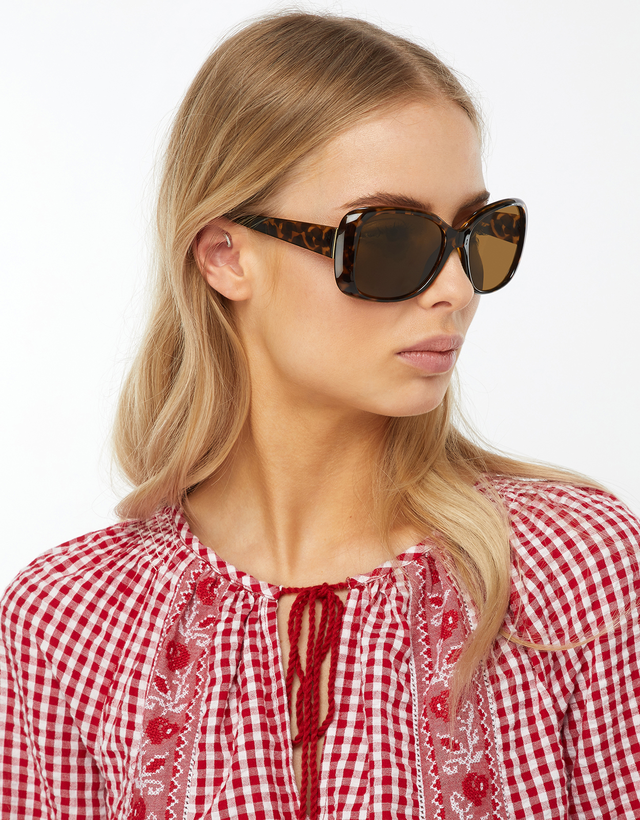 Monsoon Marley Metal Trim Wrap Sunglasses