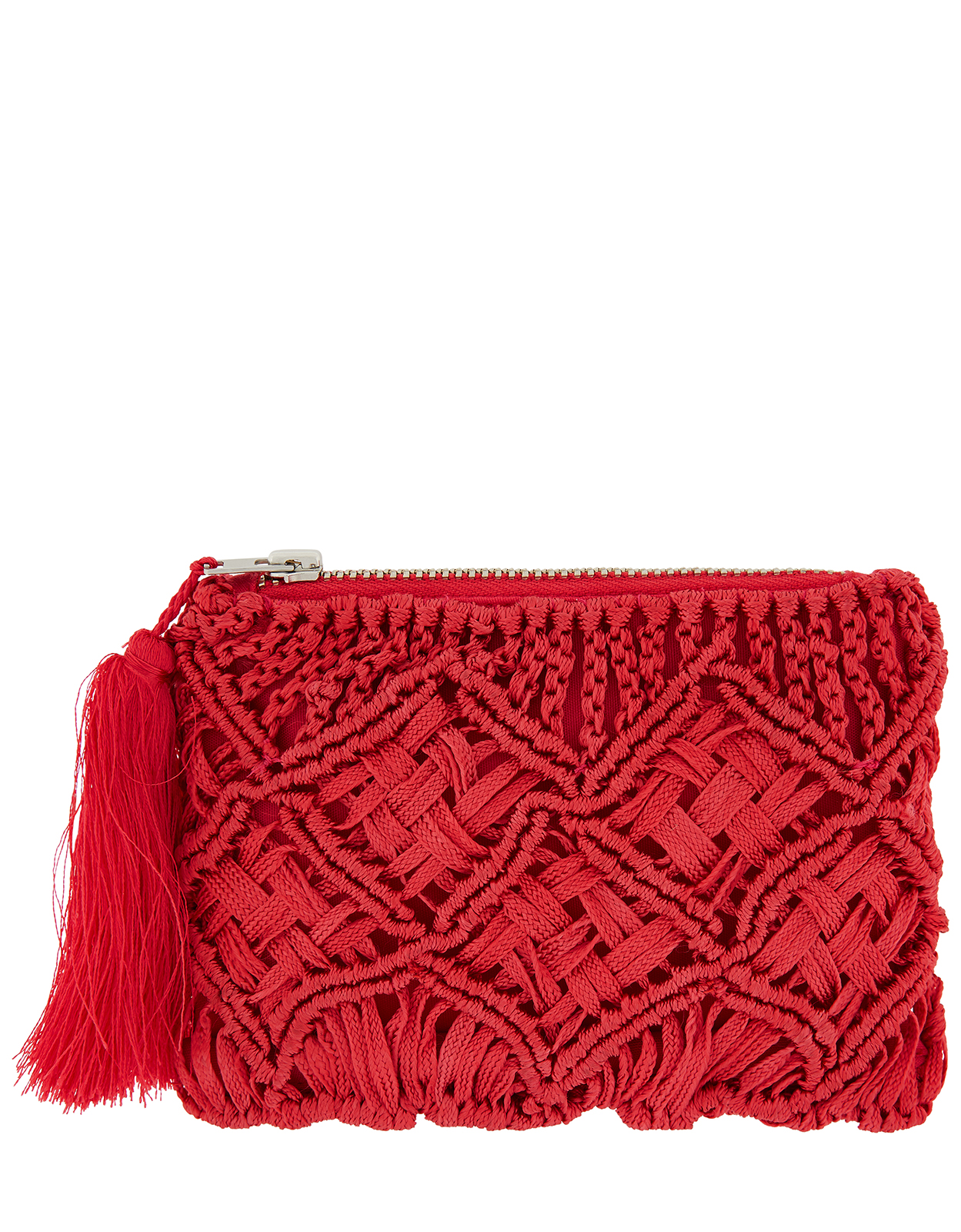 Monsoon Macramé Tassel Purse