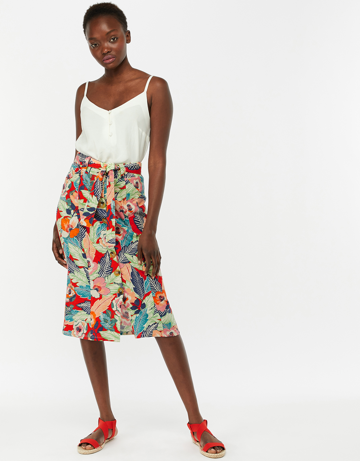 Monsoon Paquita Jersey Print Skirt