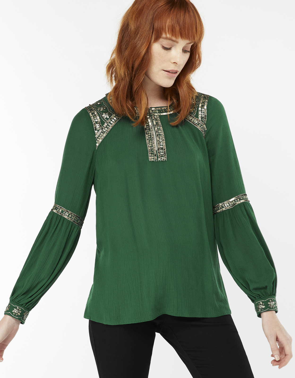 Monsoon Alban Embellished Top