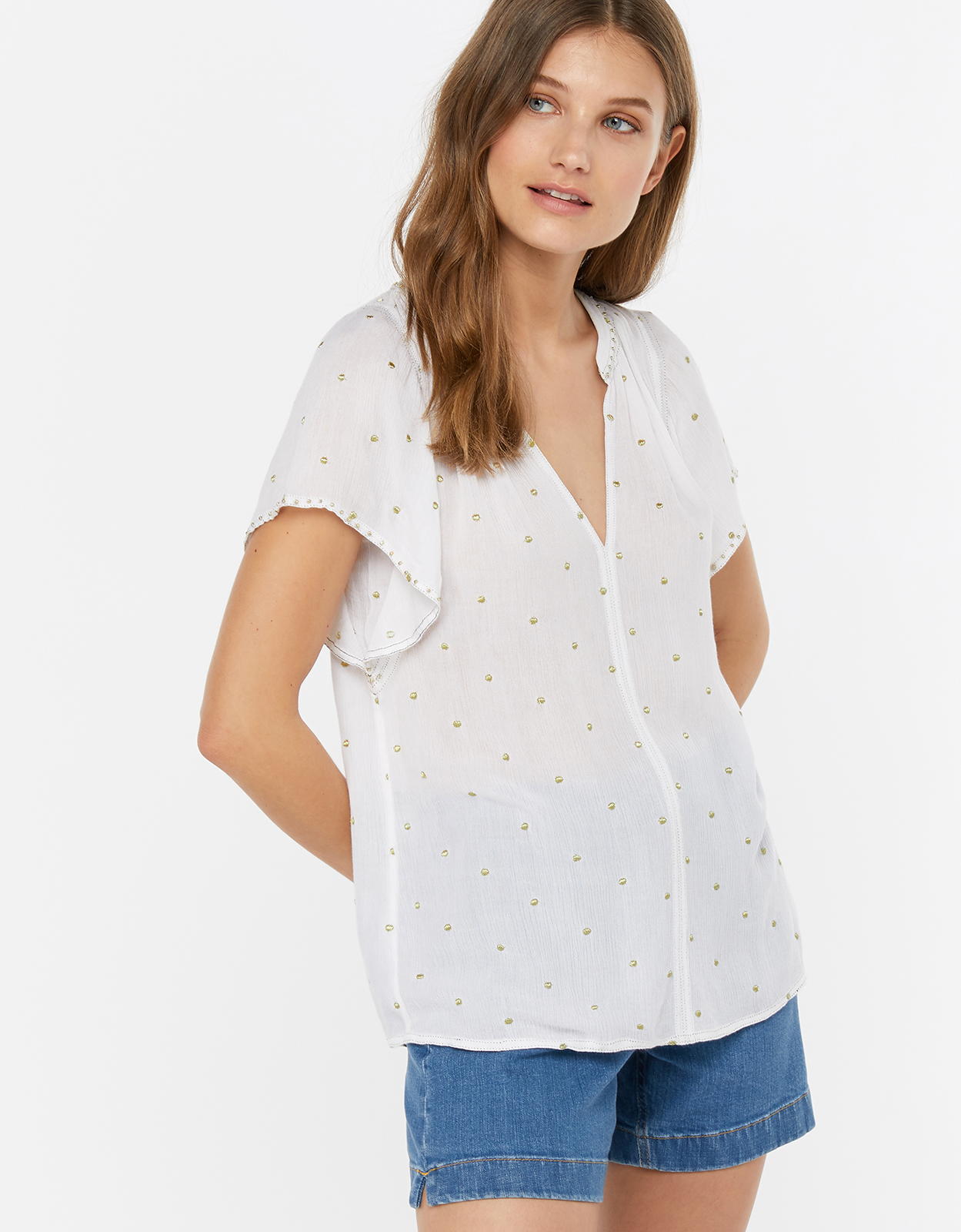Monsoon Novia Embellished Top